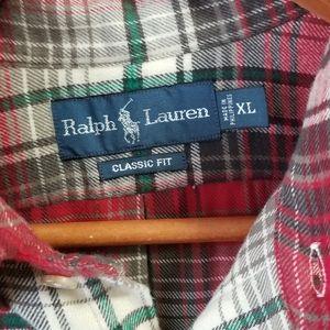 Ralph Lauren Shirts - Ralph Lauren Christmas Plaid Cotton Flannel